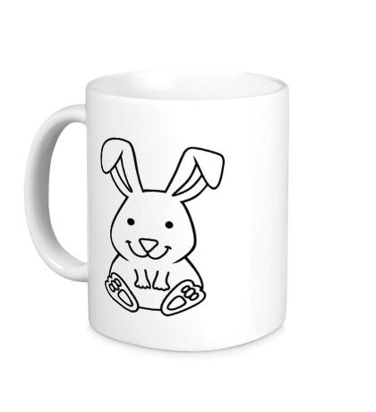 Керамическая кружка Белый зайчик
