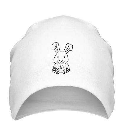 Шапка Белый зайчик