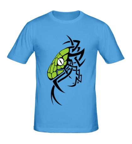 Мужская футболка Змея тату