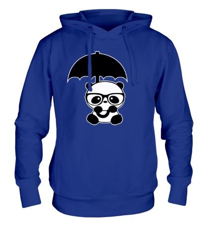 Толстовка с капюшоном Панда под зонтом