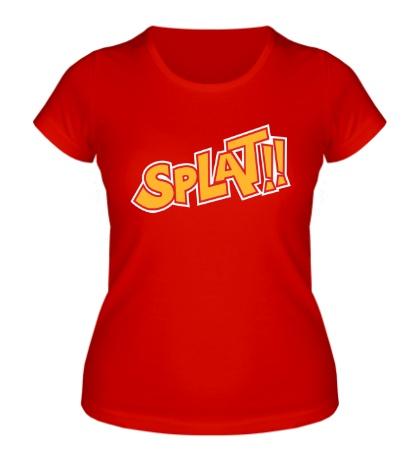 Женская футболка Splat