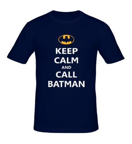 Мужская футболка Keep-Calm and call Batman
