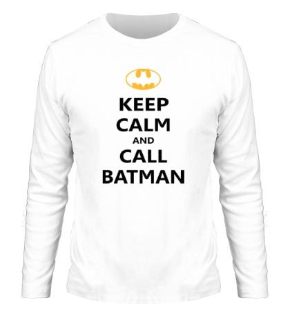 Мужской лонгслив Keep-Calm and call Batman