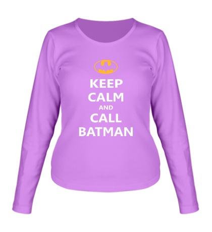 Женский лонгслив Keep-Calm and call Batman