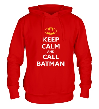 Толстовка с капюшоном Keep-Calm and call Batman