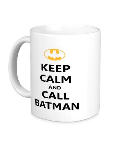 Керамическая кружка Keep-Calm and call Batman