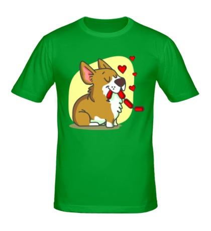 Мужская футболка Влюбленные собачки, для него
