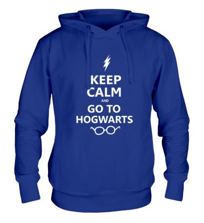 Толстовка с капюшоном Keep calm and go to hogwarts.