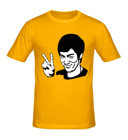 Мужская футболка Bruce Lee: Peace