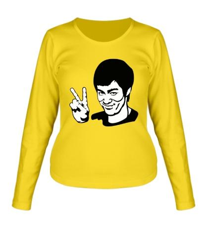Женский лонгслив Bruce Lee: Peace