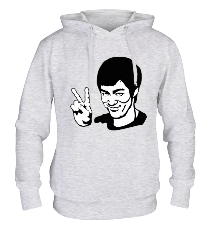 Толстовка с капюшоном Bruce Lee: Peace