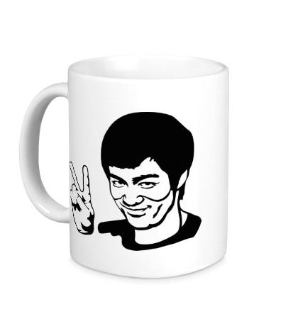 Керамическая кружка Bruce Lee: Peace