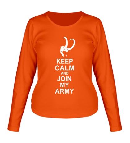 Женский лонгслив Keep calm and join my army