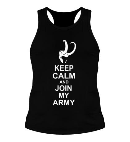 Мужская борцовка Keep calm and join my army