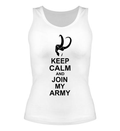 Женская майка Keep calm and join my army