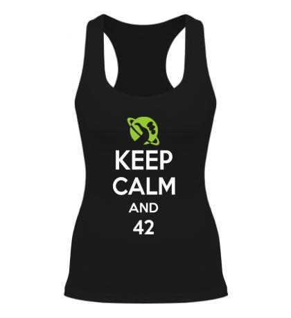 Женская борцовка Keep calm and 42