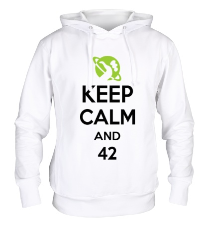 Толстовка с капюшоном Keep calm and 42