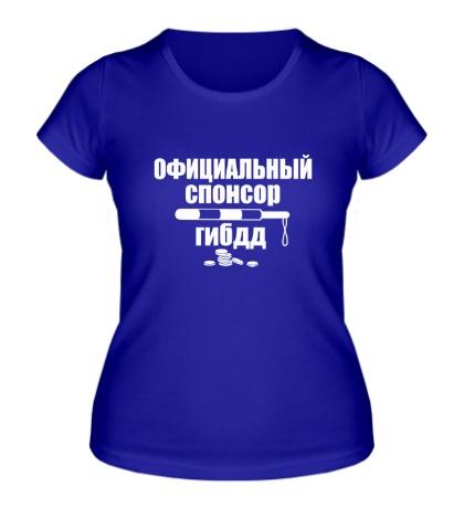 Женская футболка Спонсор гибдд