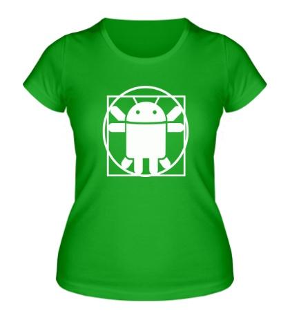 Женская футболка Андроид давинчи