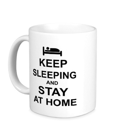 Керамическая кружка Keep sleeping and stay at home