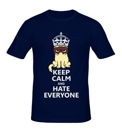 Мужская футболка Keep calm and hate everyone