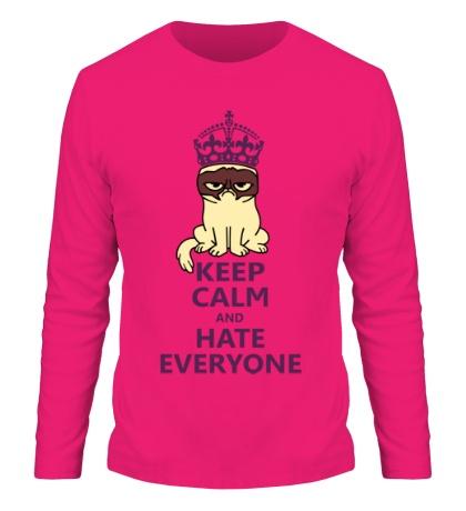 Мужской лонгслив Keep calm and hate everyone