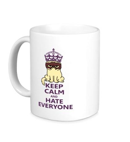 Керамическая кружка Keep calm and hate everyone