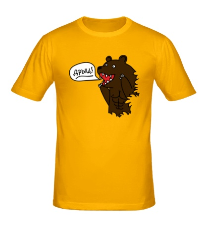 Мужская футболка Медведь качок