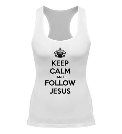 Женская борцовка Keep calm and follow Jesus.