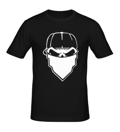 Мужская футболка Череп в маске