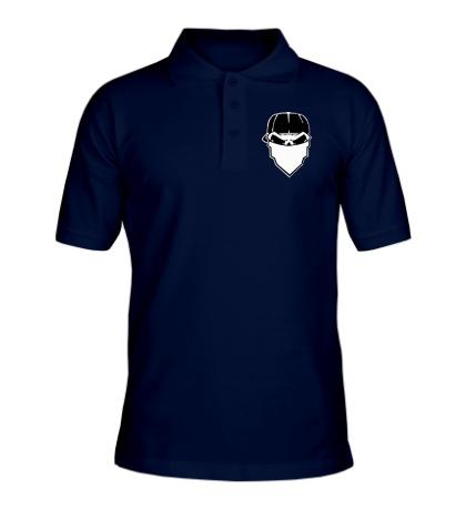 Рубашка поло Череп в маске