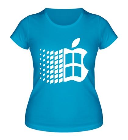 Женская футболка Яблоковиндовс