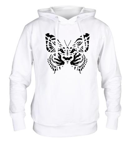 Толстовка с капюшоном Тигровая бабочка