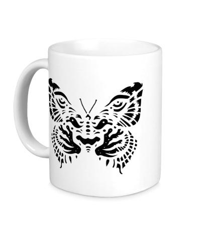 Керамическая кружка Тигровая бабочка