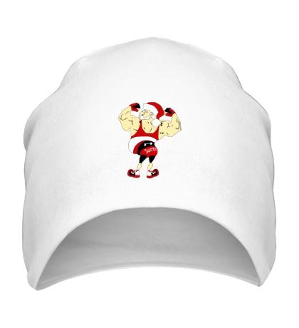 Шапка Санта бодибилдер