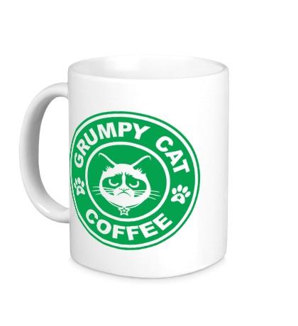 Керамическая кружка Grumpy cat coffee
