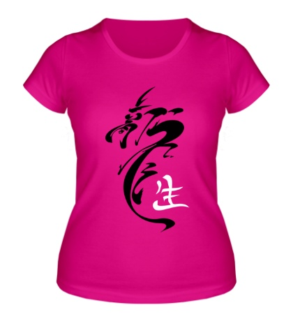 Женская футболка Иероглиф дракон