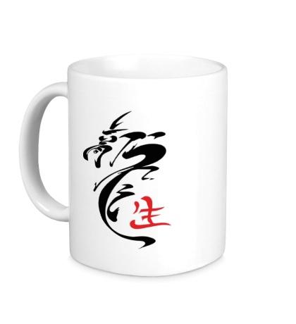 Керамическая кружка Иероглиф дракон
