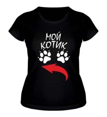 Женская футболка Мой котик