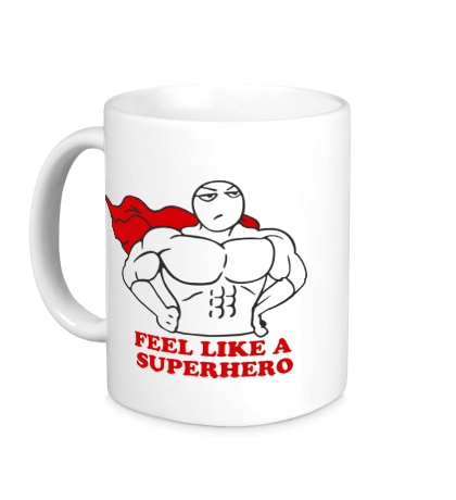Керамическая кружка Feel like superhero