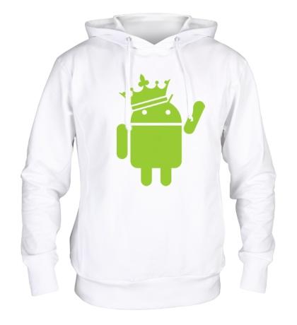 Толстовка с капюшоном Андроид король