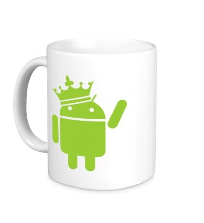 Керамическая кружка Андроид король