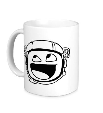 Керамическая кружка Avesome face astronaut