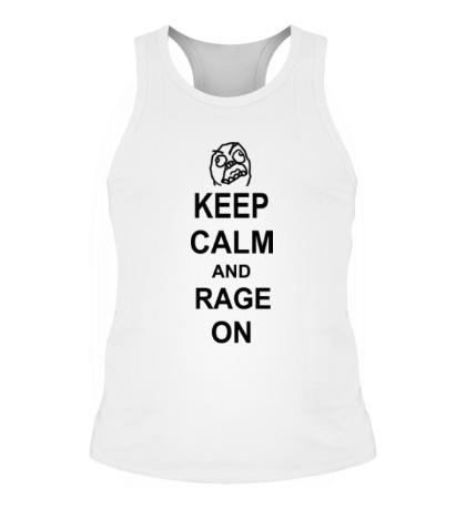 Мужская борцовка Keep calm and rage on