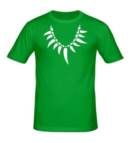 Мужская футболка «Амулет из клыков»