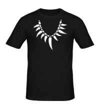 Мужская футболка Амулет из клыков