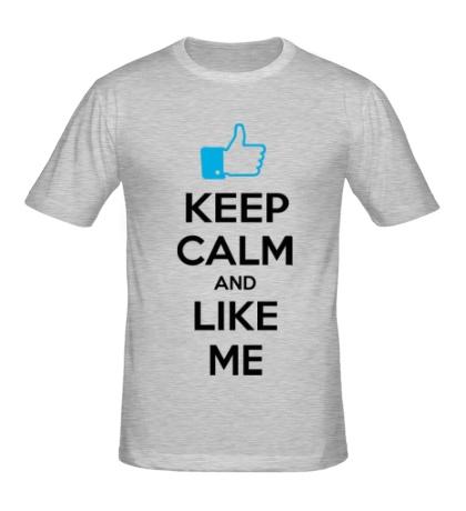 Мужская футболка Keep calm and like me