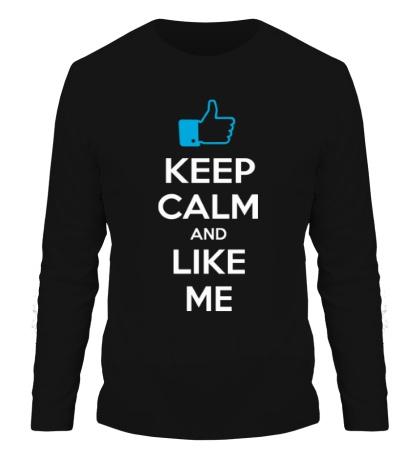 Мужской лонгслив Keep calm and like me