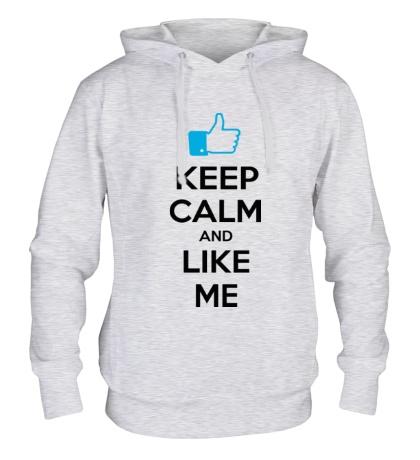 Толстовка с капюшоном Keep calm and like me
