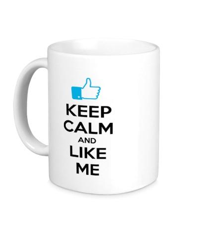 Керамическая кружка Keep calm and like me